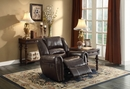 Center Hill 3-Pc Brown Leather Manual Recliner Sofa Set by Homelegance