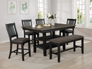 Jorie Brown/Black Wood Rectangular Counter Height Table by Crown Mark