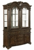 Neo Renaissance Warm Brown Wood Buffet with Hutch by Crown Mark