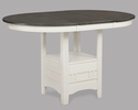 Hartwell Grey/Chalk Wood Extendable Counter Height Table by Crown Mark