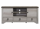 Patterson Driftwood Finish Wood Media Chest by Crown Mark