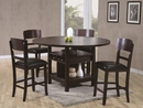 Conner Espresso Wood Extendable Counter Height Table by Crown Mark
