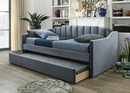 Menken Grey Fabric Twin Daybed with Trundle by Crown Mark