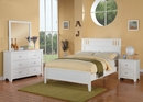 Rosario White Wood 6-Drawer Dresser with Mirror by Poundex