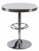 California White Metal Round Bar Table by Best Master Furniture