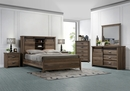 Calhoun Brown Wood Queen Bookcase Panel Bed by Crown Mark