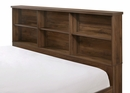 Millie Brown Cherry Wood Full Bookcase Daybed by Crown Mark