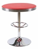 California Red Metal Round Bar Table by Best Master Furniture