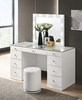 Avery Contemporary White Wood Vanity Mirror with LED by Crown Mark