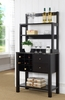 Marielle Red Cocoa Wood Baker's Rack with Faux Marble Top by ID USA