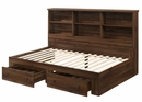Millie Brown Cherry Wood Twin Bookcase Daybed by Crown Mark