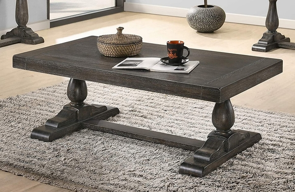 Amy Dove Grey Wood Coffee Table by Best Master Furniture