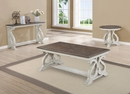 Clementine Brown/White Wood Sofa Table by Crown Mark