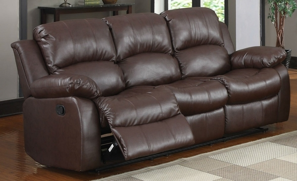 Cranley 3-Pc Brown Leather Manual Recliner Sofa Set by Homelegance