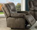 Harumi Gray Leather-Aire Power Recliner by Acme
