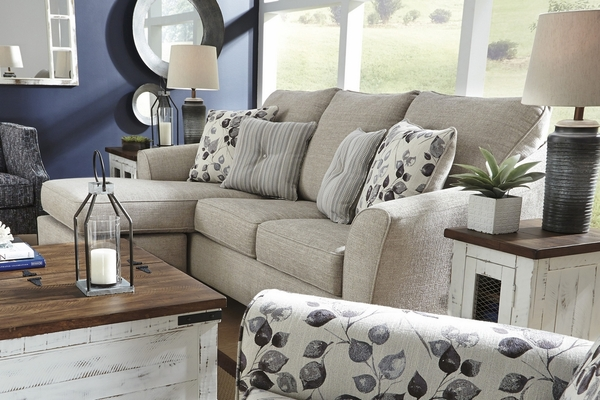 Benchcraft Abney Sectional w/ Queen Sleeper (Oversized) by Ashley