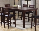 Bardstown Dark Brown Counter Height Table w/ Leaf by Crown Mark