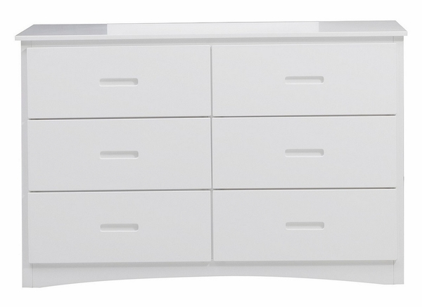 Galen White Wood 6-Drawer Dresser by Homelegance