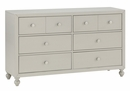 Wellsummer Gray Wood 6-Drawer Dresser by Homelegance