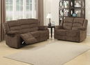 Bill 2-Pc Brown Fabric Manual Recliner Sofa Set by AC Pacific