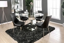 Izzy 2 Black/Silver Leatherette Side Chairs by Furniture of America