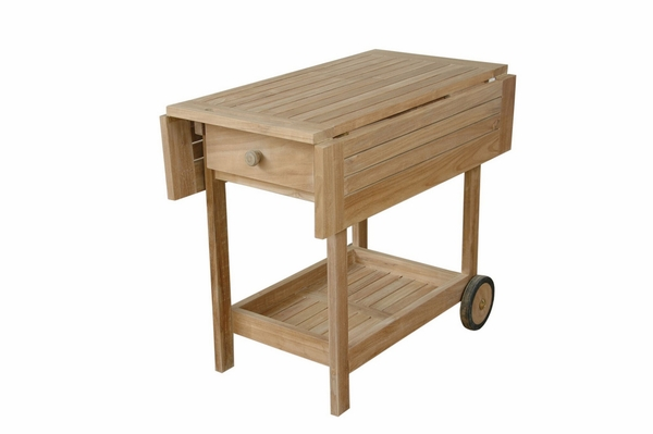 Danica Natural Finish Trolley Serving Cart by Anderson Teak