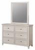 Brogan Antique White Wood 6-Drawer Dresser by Furniture of America