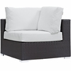 Convene 8-Piece Espresso/White Outdoor Sectional Set by Modway