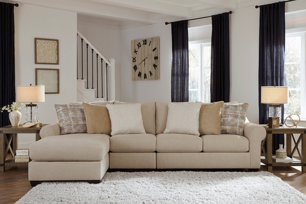 Benchcraft Ingleside 3-Pc Linen Fabric LAF Sectional Sofa by Ashley