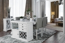 Sutton Antique White Wood Counter Height Table by Furniture of America