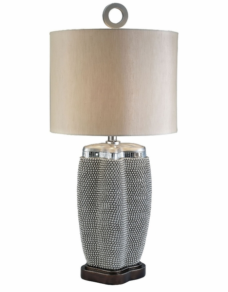 Sylvia Contemporary Pearl Stone Table Lamp by Furniture of America