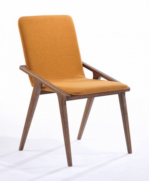 Modrest Zeppelin Modern 2 Orange Fabric Side Chairs by VIG Furniture