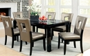 Evant 2 Black/Pewter Leatherette Side Chairs by Furniture of America