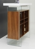 Modrest Sven White/Walnut Wood Floating Bar Table by VIG Furniture