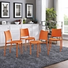 Hipster 4 Orange Sturdy Plastic Side Chairs by Modway