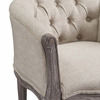 Crown Beige Fabric/Wood Dining Armchair by Modway