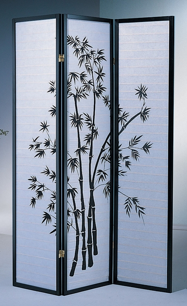 Dean Bamboo Print Rice Paper/Wood Room Divider by Milton Greens Stars