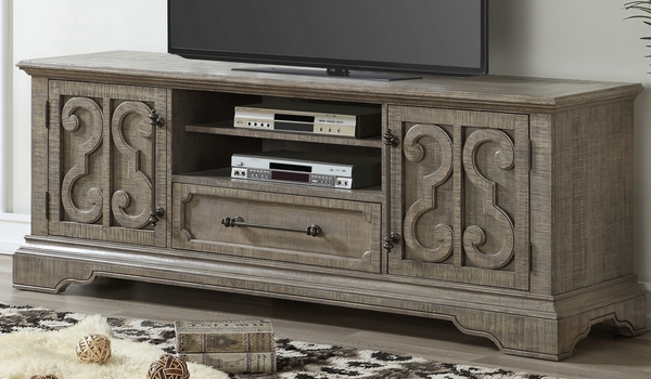 Artesia Salvaged Natural Wood TV Stand w/2 Doors by Acme