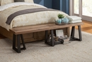 Prairie Reclaimed Natural Wood Dining Bench by Alpine Furniture