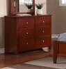 Rosario Cherry Wood 6-Drawer Dresser by Poundex