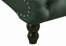 Alice Green Fabric Button-Tufted Chaise by AC Pacific