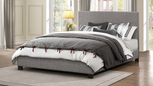 Chasin Neutral Gray Fabric King Bed (Oversized) by Homelegance
