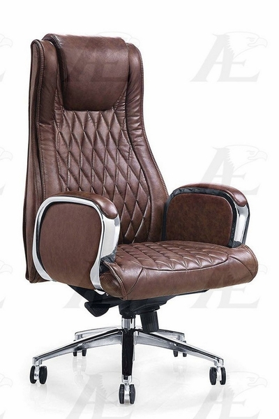 Felisa Brown PU Leather Executive Chair by American Eagle Furniture