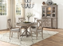 Cardano Driftwood Light Brown Wood Buffet with Hutch by Homelegance