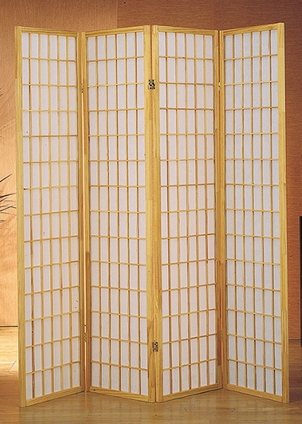 Dean Natural Rice Paper 4-Panel Room Divider by Milton Greens Stars