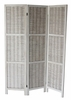 Blake Washed White Wood 3-Panel Room Divider by Milton Greens Stars