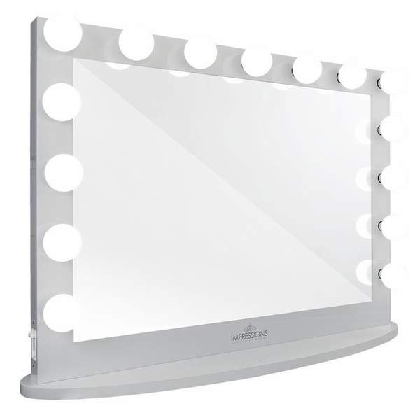 Hollywood Iconic Pro Silver Frame Vanity Mirror by Impressions Vanity