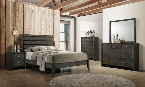 Serenity 5-Pc Mod Grey Wood Twin Bedroom Set by Coaster