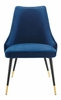 Adorn Navy Performance Velvet Side Chair by Modway