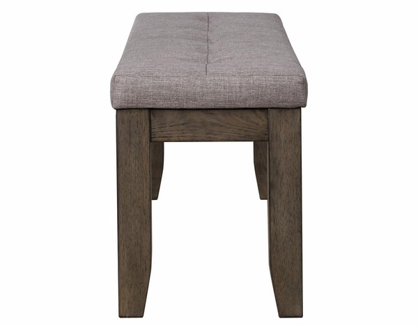 Bardstown Grey Fabric/Wood Dining Bench by Crown Mark